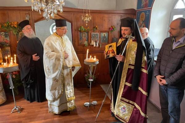 Митрополит Олександр очолив престольне свято церкви великомученика Димитрія на острові Імврос